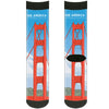 Sock Pair - Polyester - SEE AMERICA-GOLDEN GATE NATIONAL RECREATION AREA Bridge Scene