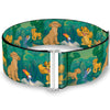 Cinch Waist Belt - The Lion King Simba Nala Zazu Poses Leaves Greens