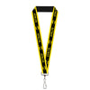 "Lanyard - 1.0"" - BATMAN Logo Stripe Yellow Black"