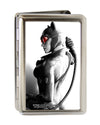 Business Card Holder - LARGE - Arkham City Catwoman Whip Pose FCG Grays Red