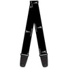 Guitar Strap - Pontiac Black Silver REPEAT Logo