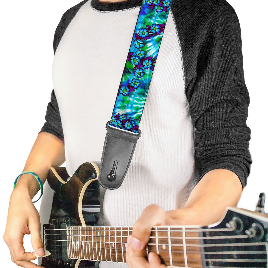 Guitar Strap - Tattoo Johnny-Blue Hair