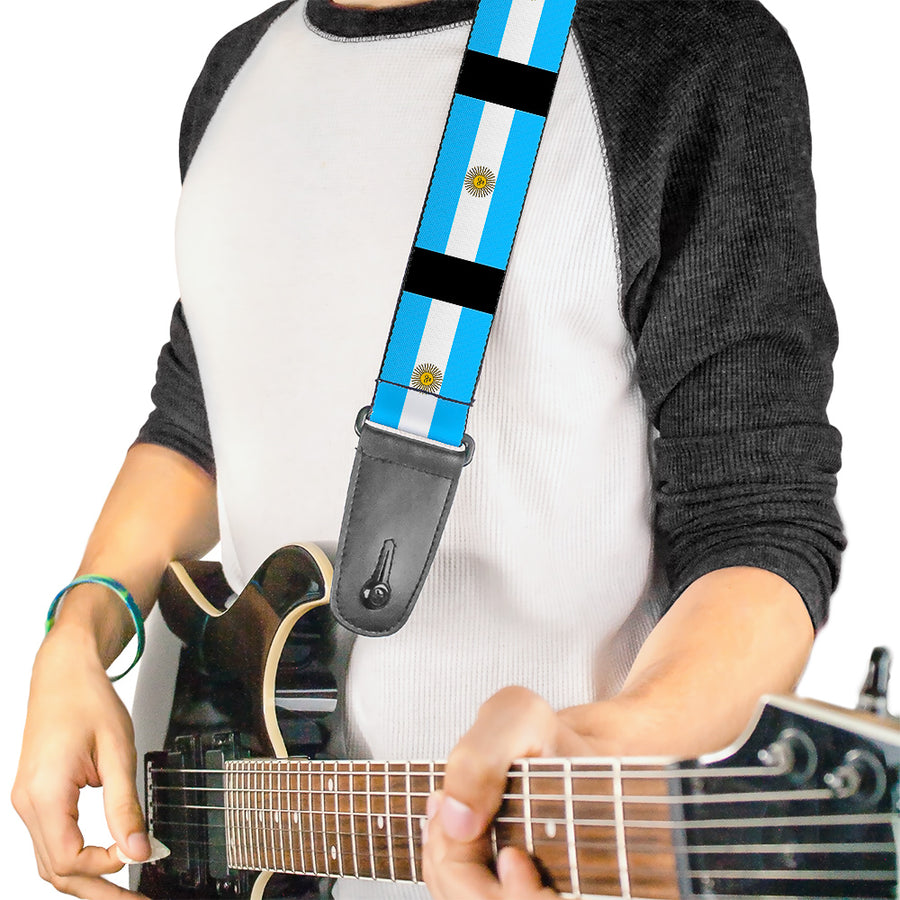Guitar Strap - Argentina Flags