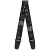 Guitar Strap - Nightmare Before Christmas Jack Expressions Scattered Weathered