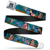 Stitch Smiling CLOSE-UP Full Color Black Seatbelt Belt - Lilo & Stitch 5-Scene Blocks Webbing