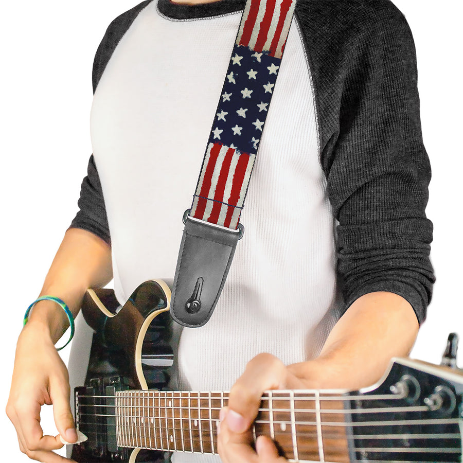 Guitar Strap - Stars & Stripes Painting
