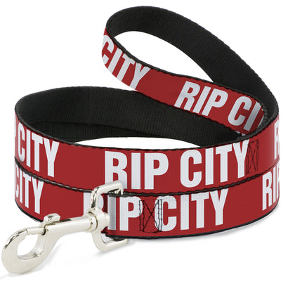 Dog Leash - RIP CITY Red/White
