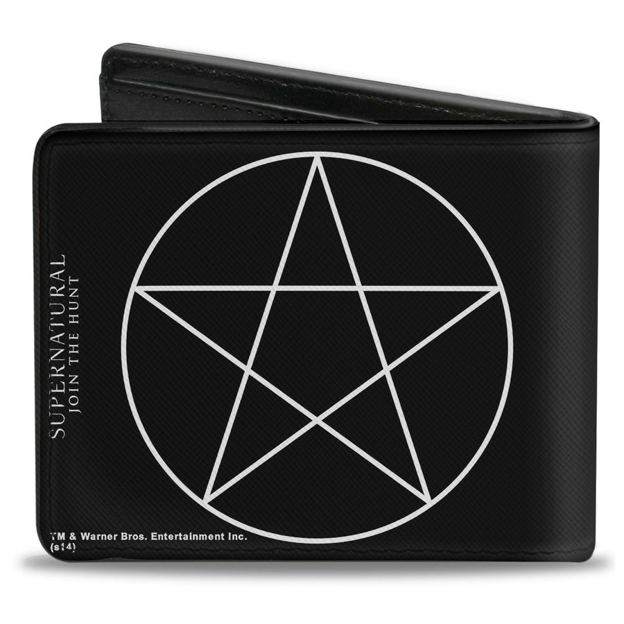 Bi-Fold Wallet - Supernatural Pentagram Black White