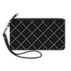 Canvas Zipper Wallet - LARGE - Buffalo Plaid X Charcoal Black Gray