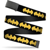 Black Buckle Web Belt - Bat Signal-1 Black/Yellow Webbing