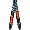 Guitar Strap - Wonder Woman Face w Stars