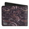 Bi-Fold Wallet - The Lion King Scar Pose Elephant Graveyard Bones Browns