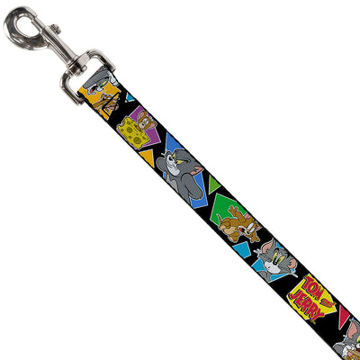 Dog Leash - TOM & JERRY Poses Black/Multi Color