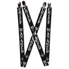 "Suspenders - 1.0"" - Harry Potter MISCHIEF MANAGED Black Gray White"