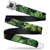 MARVEL AVENGERS MARVEL AVENGERS Logo Full Color Black Red White Seatbelt Belt - Marvel Hulk CLOSE-UP Poses Webbing