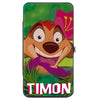Hinged Wallet - Lion King TIMON Hula Dance Face Leaves Greens