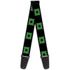 Guitar Strap - Green Lantern Logo Black Green