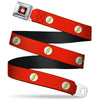 Flash Logo Black Seatbelt Belt - Flash Logo Red/White/Yellow Webbing