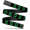 Black Buckle Web Belt - Green Lantern Logo Black/Green Webbing