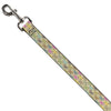 Dog Leash - BD Monogram Tan/Multi Neon
