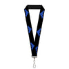 "Lanyard - 1.0"" - Nightwing Logo Black Blue"