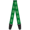 Guitar Strap - Green Lantern Logo Weathered Greens