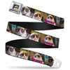 Grumpy Cat Face Full Color Black Seatbelt Belt - ORIGINAL GRUMPY CAT Poses Webbing