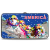 Hinged Wallet - SEE AMERICA-Mount Rushmore2 Blue White Red Multi Color