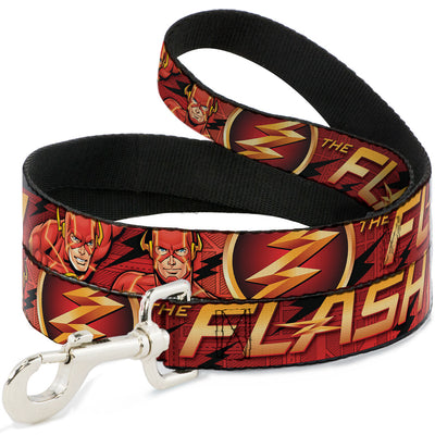 Dog Leash - THE FLASH/Logo3/Poses Black/Red/Gold