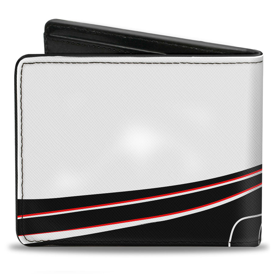 Bi-Fold Wallet - COBRA JET Flaming Cobra White Black Red Blue