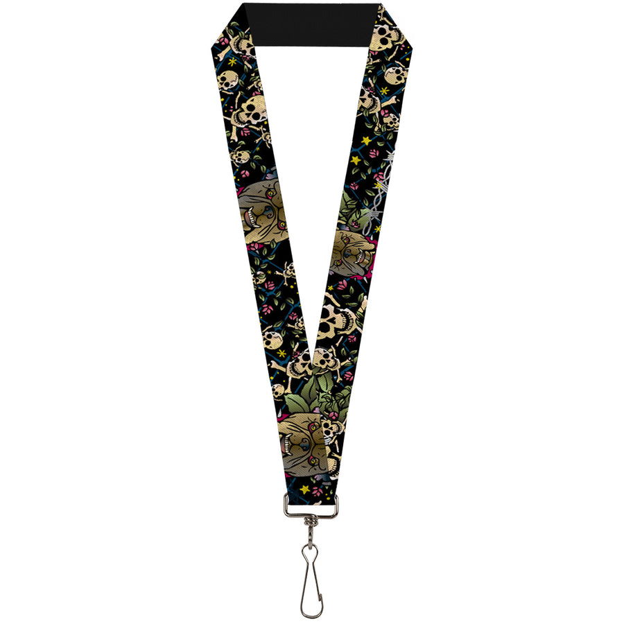 "Lanyard - 1.0"" - Trust No One CLOSE-UP Black"