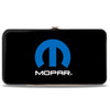Hinged Wallet - MOPAR Logo Black Blue White