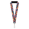 "MARVEL AVENGERS Lanyard - 1.0"" - Captain America Face Turns Shield CLOSE-UP"