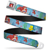 Ariel CLOSE-UP Full Color Seatbelt Belt - Ariel, Sebastian & Flounder Scene2 Webbing