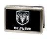Business Card Holder - LARGE - Ram Logo FCG Black Silver