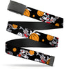 Black Buckle Web Belt - Bugs Bunny 4-Basketball Poses Black Webbing