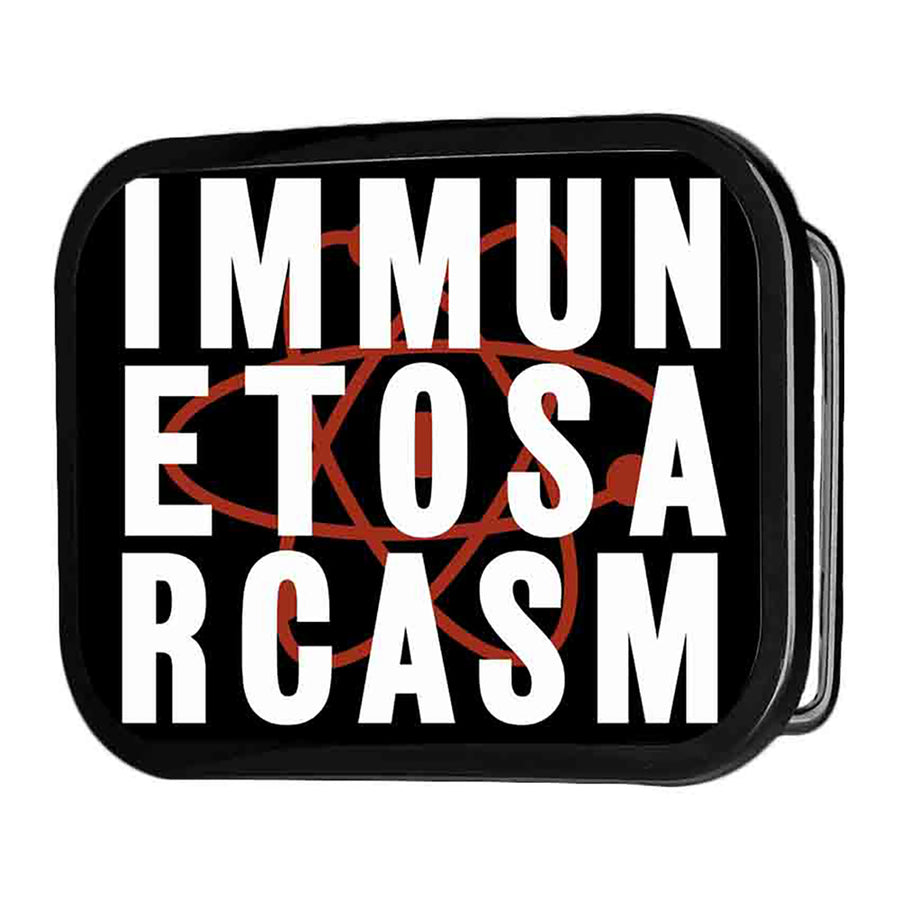 IMMUNE TO SARCASM Atom FCG Black Red White - Black Rock Star Buckle