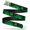 MARVEL COMICS THE HULK Full Color Seatbelt Belt - The Hulk Stacked Webbing