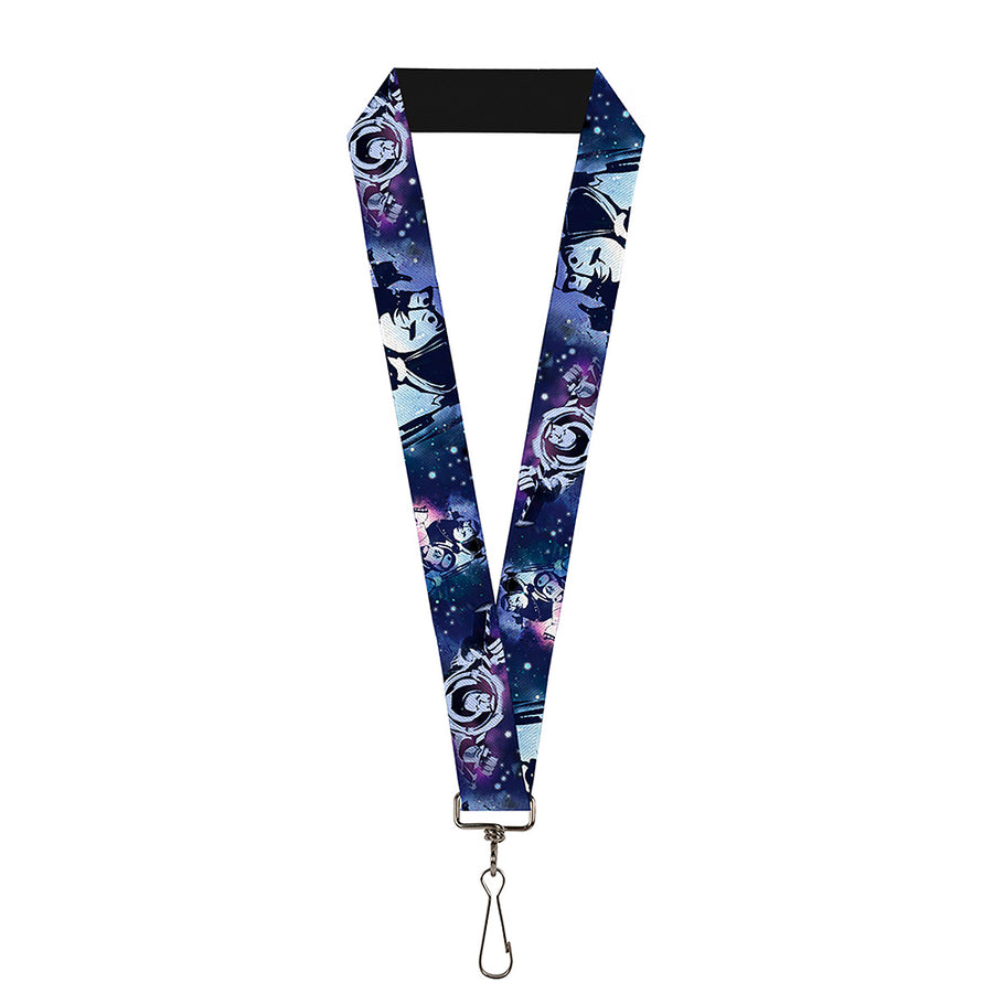 "Lanyard - 1.0"" - Buzz Lightyear Poses Galaxy Blues"