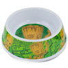 Single Melamine Pet Bowl - 7.5 (16oz) - Groot Happy Pose + Groot Poses Music Notes Greens