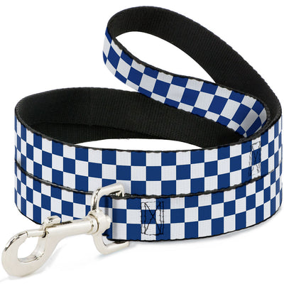 Dog Leash - Checker BlueKU/White