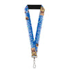 "Lanyard - 1.0"" - ADVENTURE IS OUT THERE Carl on Porch Flying House Balloons Blues White Multi Color"