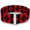 Cinch Waist Belt - Harley Quinn Diamond Blocks Red Black Black Red