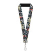 "Lanyard - 1.0"" - Nightmare Before Christmas 4-Character Group Cemetery Scene"