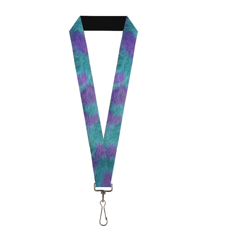 "Lanyard - 1.0"" - Sully's Fur Spots Turquoise Purple"