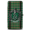Hinged Wallet - SLYTHERIN Crest Stripes Diamonds Greens Black