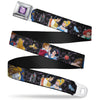 Princess Gem CLOSE-UP Full Color Purple Seatbelt Belt - Disney Princesses & Prince's Dancing Webbing