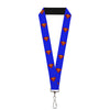 "Lanyard - 1.0"" - Superman Shield Blue"