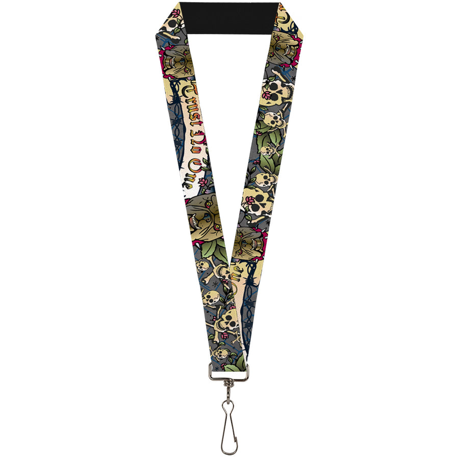 "Lanyard - 1.0"" - Trust No One Gray"