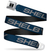 SHELBY Tiffany Box Full Color Black Silver-Fade Seatbelt Belt - SHELBY Bold Blue/Gray Webbing